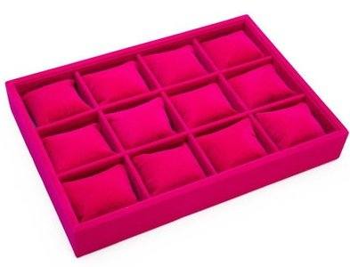 Display armbanden/horloge box kussentjes roze