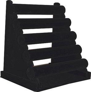 armbanden 5 rol zwart velours