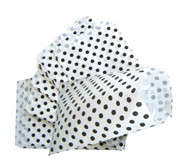 Fournituren zakken wit met stippen
